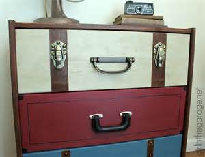 vintage holzverkleidung suitcase dresser ikea rast hack in the garage