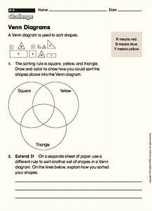 Venn Diagrams Graphic Organizer For 2nd
