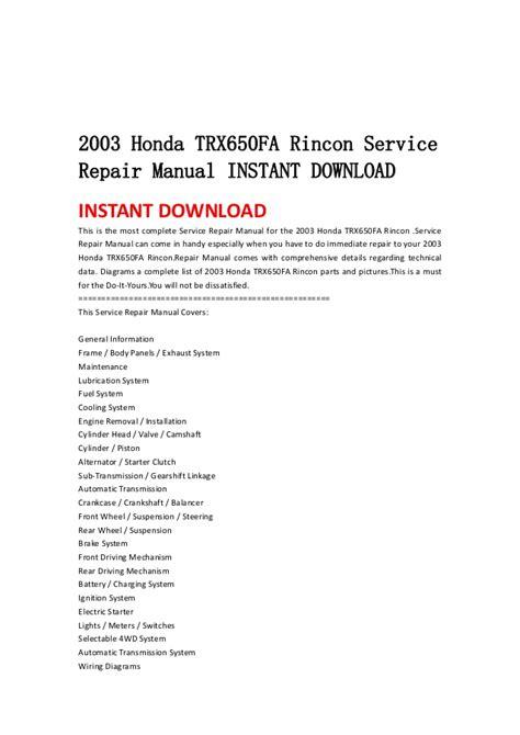 small engine repair manuals free download 2004 honda s2000 auto manual 2003 honda trx650 fa rincon service repair manual instant download