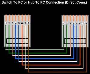 Setup Lan With Hub Or Switch  With Cable Color Code