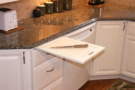 Pull Out Cutting Board In Kitchen