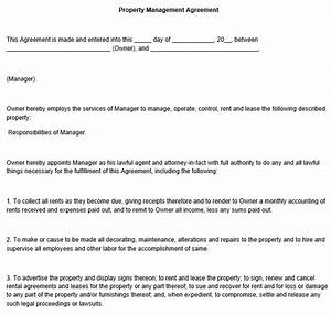 property management agreement template With free property management forms templates