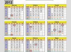 KALENDAR 2012 s praznicima u Excelu