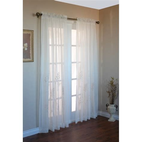 105 Inch Sheer Curtains by Commonwealth Hydrangea 84 Quot Rod Pocket Curtain Panel In
