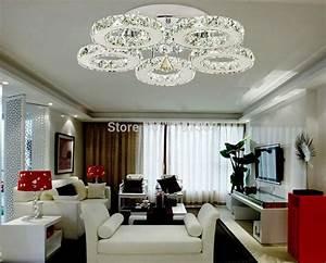 Lustre Pour Salon : 2016 new arrival modern design restaurant led crystal chandelier living room light led lamps ~ Preciouscoupons.com Idées de Décoration