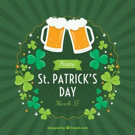St. patrick's day background Free Vector | Free Vector # ...