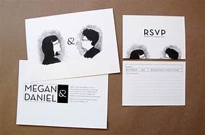 megan daniel39s quirky black and white invitations With quirky wedding invitations online
