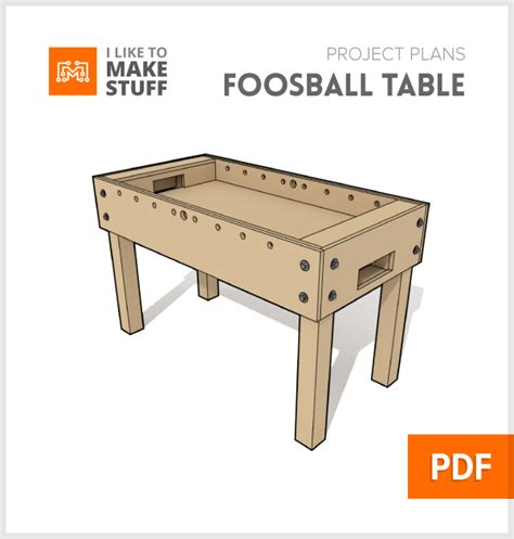 foosball table digital plan     stuff