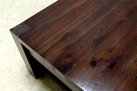 Square parsons coffee table in espresso   ECustomFinishes