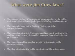 What Is Jim Crow Law