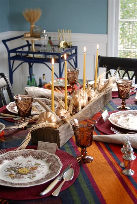 rustic thanksgiving table  centerpiece ideas