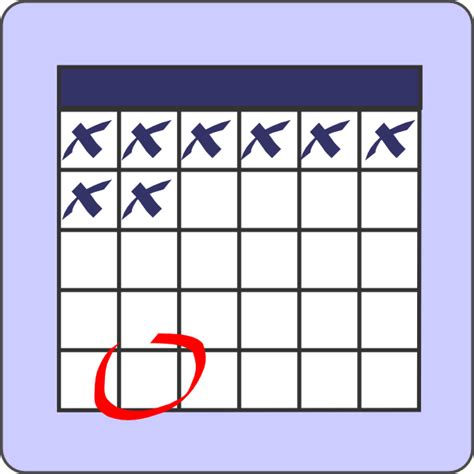 schedule clipart free altered calendar with clip at clker vector