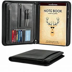 padfolio portfolio organizer leather zippered writing pad With portfolio document holder