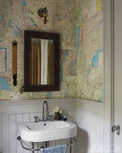map wallpaper cottage bathroom farrow ball With best brand of paint for kitchen cabinets with old map wall art