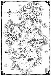 Blank Fantasy World Map Black And White   www.pixshark.com ...