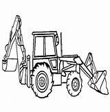 Digger Coloring Backhoe Loader Pages Truck Excavator Peterbilt Construction Tonka Drawing Printable Hoe Dump Template Outline Sketch Clipart Getdrawings Getcolorings sketch template