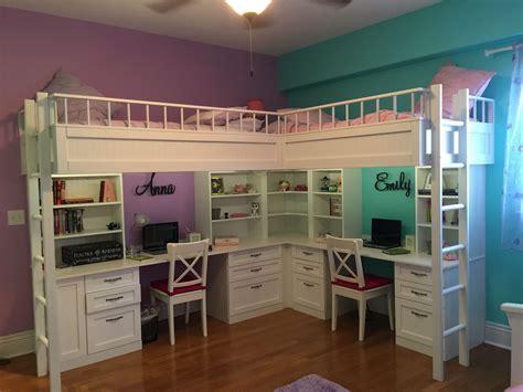 boys loft bed with desk custom made dual loft beds with desks kids room decor