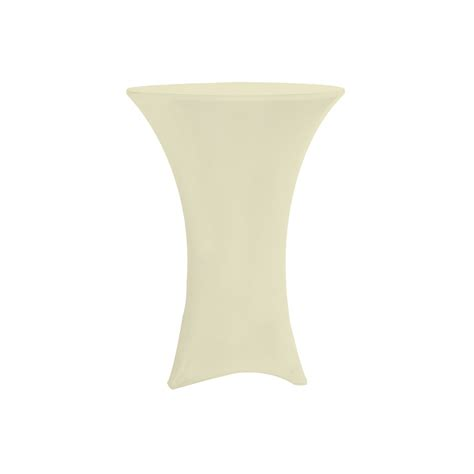 30 inch highboy cocktail spandex table covers ivory