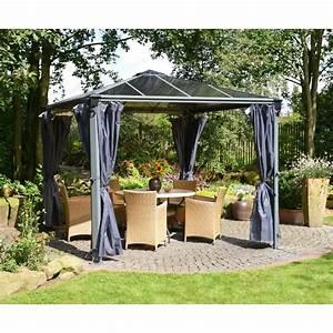 Rideaux pour tonnelle de jardin en alu et polycarbonate for Amazing auvent de jardin en toile 1 rideaux pour tonnelle de jardin en alu et polycarbonate