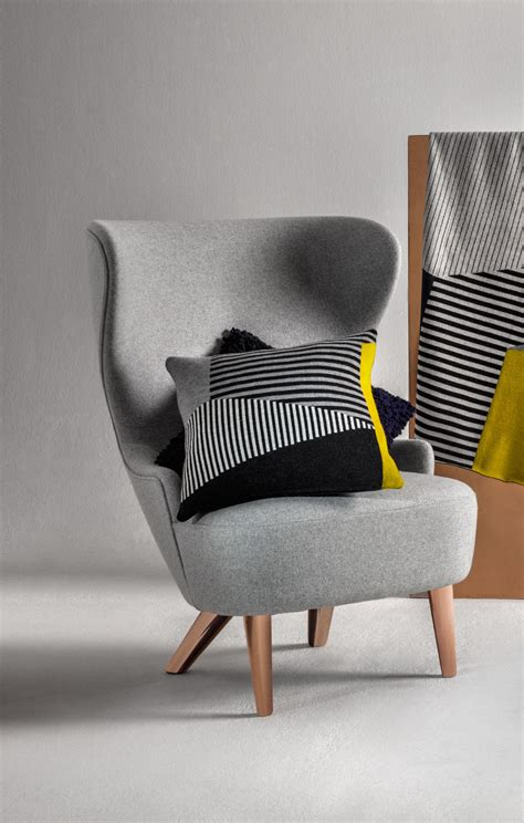 wingback micro padded armchair   cm fabric