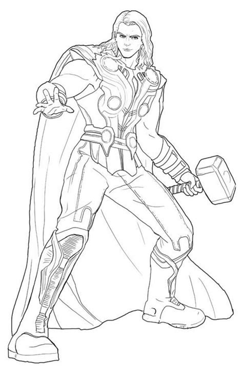 get this avengers coloring pages thor online printable 85931