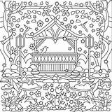 Pages Coloring Garden Gazebo Books Adult Adults Printables Flowers Paper Favorite Template sketch template