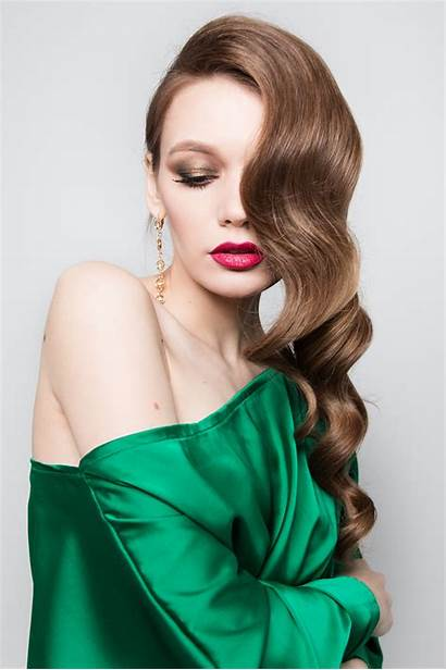 Hair Makeup Background Beauty Eyes Russian Brown