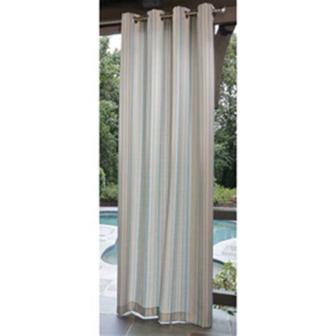 shop allen roth 96 quot aqua outdoor curtain panel at