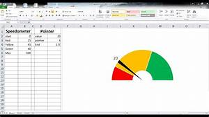 How To Make A Speedometer Chart  Dounutchart  In Excel 2013 For Beginners
