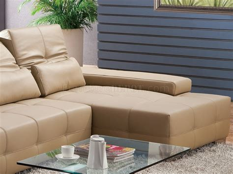 Light Brown Leather Sectional by S812 A Sectional Sofa In Light Brown Leather By Pantek