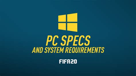 Sportsyms are a separate phenomenon in the context of the entire gaming industry. FIFA 20 PC Specs & System Requirements - FIFPlay