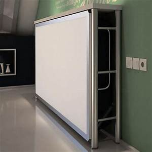 Lit Une Place : lit rabattable une place fun secret de chambre ~ Teatrodelosmanantiales.com Idées de Décoration