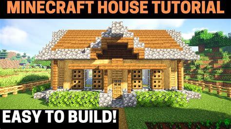 build  minecraft survival house tutorial easy youtube
