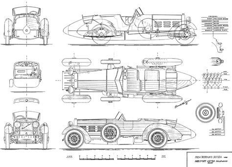 hispano suiza tulipwood roadster blueprint