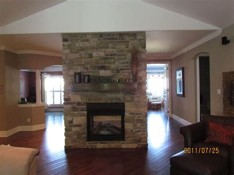 two sided fireplace fireplaces rick minnings cultured work
