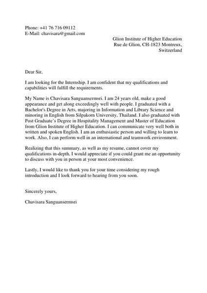 subject motivation letter   master program