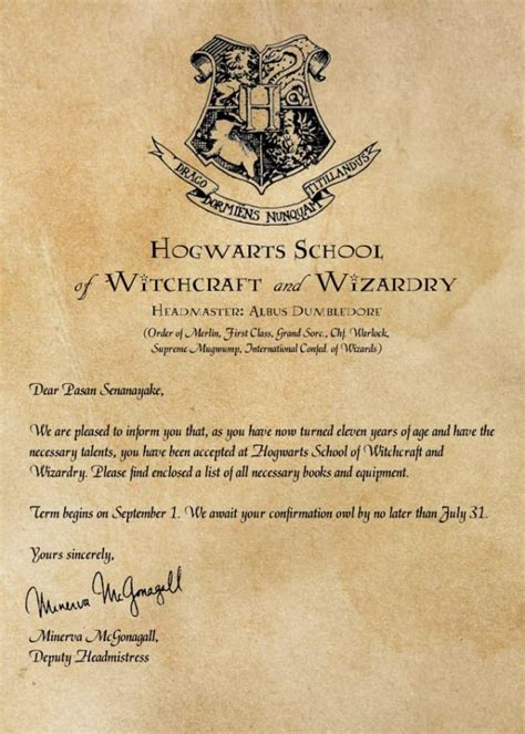 hogwarts acceptance letter supply list contesting wiki