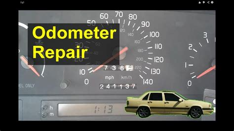 volvo  odometer gear repair replacement auto repair
