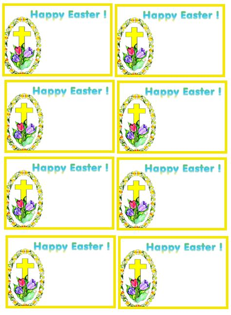 Easter Name Tags Template printable pet tag templates trials ireland