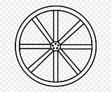 Wheel Wagon Drawing Clip Coloring Clipart sketch template