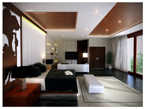 modern master bedroom with wooden ceiling lighting ideas and wooden floor projects to try