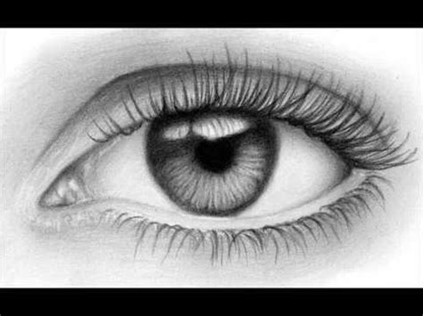 Como dibujar un ojo realista ( Fácil ) YouTube