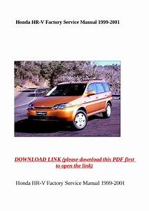 Honda Hr V Factory Service Manual 1999 2001 By Dniel Toen