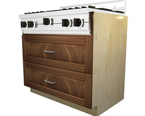 Cabinet Bases by 2 Drawer Rangetop Base Cabinet