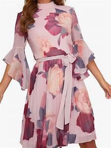 Chi Chi London Jessamy Floral Dress  Pink  Multi At John