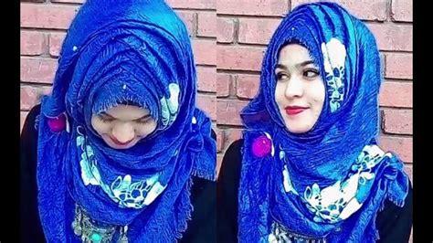 eid special criss cross hijab style    scarf