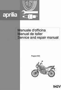 Aprilia Pegaso 650 1997 Service Repair Manual 942v Download