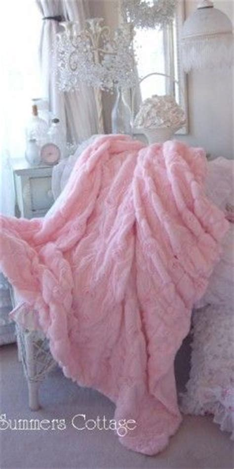 shabby chic fuzzy blanket shabby baby pink fur satin ribbon ruffle roses chic throw soft cozy blanket ruffles roses and