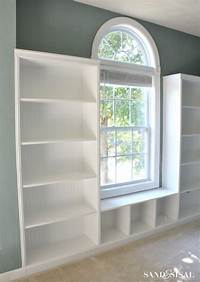how to build a built in bookshelf DIY Built-in Bookshelves + Window Seat - Sand and Sisal