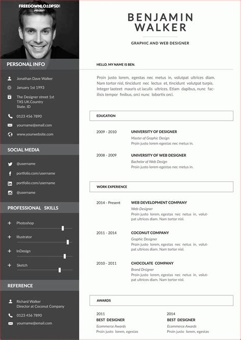 Attractive Cv Templates by 8 9 Attractive Resume Format Formsresume